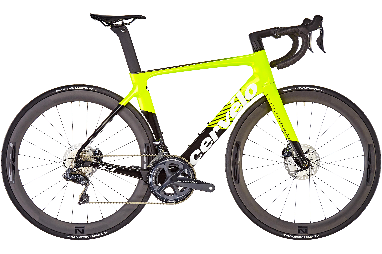 Cervelo S3 Disc Ultegra Di2 8070 Bicicletta Da Corsa Giallonero